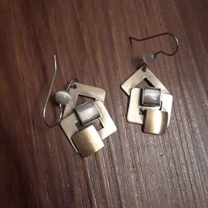 Vintage Geometric square dangle earings